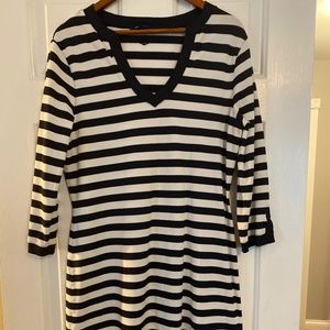 Brooks Brothers Pique Knit Nautical Dress